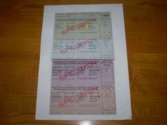 Suisse Franc Suisse: Travellers Cheque De 50, 100, 200 & 500 FS De La Sté De Banque Suisse.travellers Cheques 1966 - Non Classés