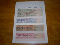 Suisse Franc Suisse: Travellers Cheque De 50, 100, 200 & 500 FS De L' Union De Banques Suisses.travellers Cheques 1969 - Non Classés