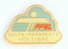 Pin's FFVL - Delta - Parapente - Vol Libre - Orcelle - G851 - Parachutting