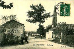 Cpa SAINT CAPRAIS 33 Le Bourg - France