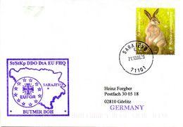 "(BWFP2) Cachet-Brief  ""EUFOR NATO-Einsatz BW Deutsches Kontingent St/StKp DDO DtA EU FHQ"" EF TSt 21.10.08 SAREJEVO - Bosnia And Herzegovina"