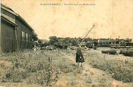 Cpa SAINT JEAN D ANGELY 17 Vue De La Gare Aux Marchandises - Saint-Jean-d'Angely
