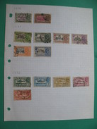 Grande-Bretagne ( Ex-colonies)    La Feuille De Timbre ; The  Sheet Of Old Stamps Of     Inde - 1911-35 Roi Georges V