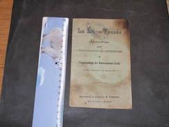 LA LIBRE PENSEE-'EMANCIPATION DES CONSCIENCES ET ORGANISATION DES ENTERREMENTS CIVILS.DEFROIDMONT Mariette HACCOURT 1920 - Cultuur