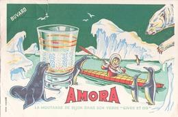France Buvard Amora ( Pliure, Déchirure ) 21 Cm X 13,5 Cm - Potages & Sauces