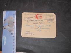 ROYAL AUTOMOBILE CLUB LIEGEOIS CARTE DE MEMBRE DE AUGUSTE BOTTIN  Pour 1954 - Vieux Papiers