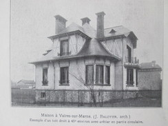 1929  MAISON  VAIRES SUR MARNE   Art Déco Architecture - Vaires Sur Marne
