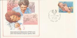 Hommage Aux Sages-femmes (Congrès à Sydney) Australie, Entier-postal D'Adelaide - Jobs