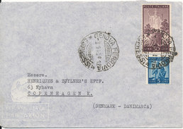 Italy Cover Sent Air Mail To Denmark Genova 3-1-1948 - 1946-.. Republiek