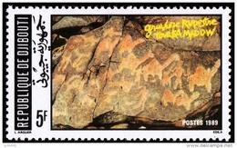 DJIBOUTI Prehistoire, Peinture Rupestre, Gravures Rupestres De Tourka Madow. Yvert N°658. MNH. ** - Préhistoire