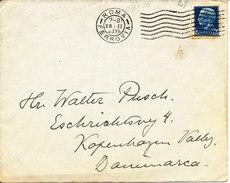 Italy Cover Sent To Denmark Roma Ferrovia 28-2-1930 - 1900-44 Vittorio Emanuele III
