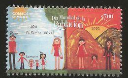 RJ) 2017 MEXICO, WORLD POPULATION DAY, FAMILY, TREE, SUN AND MOUNTAINS, MNH - Mexiko