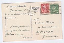 1937 USA Stamps COVER (Postcard  CINCINNATI SKYLINE & OHIO RIVER) To Germany - United States