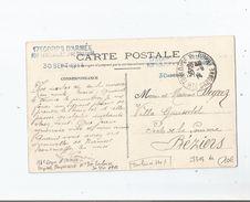 TOULOUSE (31) CACHET MILITAIRE DE L'HOPITAL TEMPORAIRE N° 30 . 17 E CORPS D'ARMEE 1914 - Marcophilie (Lettres)