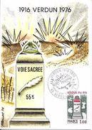 1883 - 60e ANNIVERSAIRE DE LA BATAILLE DE VERDUN -1er Jour, Le 12-06-1976 - 1970-79