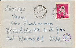 Poland Cover Sent To USA 1958 Single Franked - 1944-.... Republic