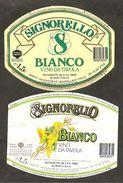 """ITALIA - 2 Etichette Vino BIANCO """"SIGNORELLO"""" Cantina DESE Di Scorzè Bianco Del VENETO - Vino Blanco"""