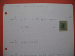 Grèce - Thrace  Feuille De Timbre Pour étude  ;   Sheets Of Stamps Of  Greece- Thrace - Thrace