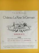 4863 - Château La Rose St-Germain 1988 - Beaujolais