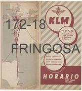 Brochure: KLM / Horario (1950) - Europe
