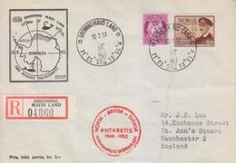 Polaire Norvège N° 303 Oblitéré Du 1° Jour D'ouverture De La Base Dronning Maud Land Le 10 2 51 - Timbres