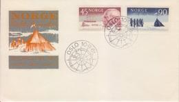 Polaire Norvègien N° 419, 420 (100° Ann. De L'expédition De R. Amundsen) Oblitéré Du 1° Jour Oslo Le 10 11 61 Sur FDC - Non Classés