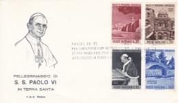 Vatikan FDC / ET  4.1.1964. Mi: 442 - 445 Pilgerfahrt Des Papstes Nach Jerusalem - FDC