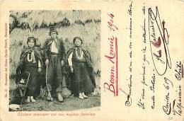 180817 - AMERIQUE CHILI - Cazique Araucano Con Sus Mujeres Favoritas - Ethnie Tribu - Chili