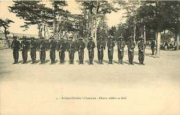 180817 - CHINE - Soldats Chinois à L'exercice - Chinese Soldiers At Drill - Militaria - China