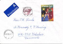 Sweden Cover Sent To Denmark Perfect Cancelled Stamps Ornskoldsvik 1-4-1992 - Sweden