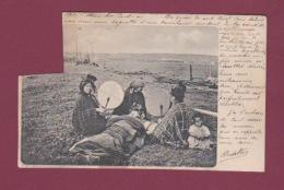 180817 - AMERIQUE CHILI - Cachet VALDIVIA Indigène Tribu Ethnie Malade Tambour Guerisseur - Chili