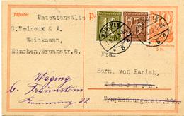 (Lo413) Ganzs. DR St. München N. Waging - Brieven