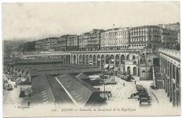 CPA ALGERIE / ALGER / ENSEMBLE DU BOULEVARD DE LA REPUBLIQUE / 1913 - Alger