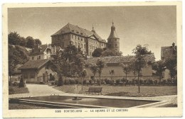 CPA MONTBELIARD / LE SQUARE ET LE CHATEAU / 1939 - Montbéliard