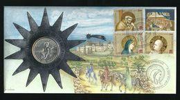 VATICANO 2000 - Busta Filatelico Numismatica FDC - Serie Nascita Di Cristo Con 2000 Lire Argento Argent Silver - Vatikan