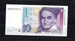 9220 Deutschland, Germany, Banknote 10,00 DM. Ro 303, Leicht Gefaltet - [ 7] 1949-… : FRG - Fed. Rep. Of Germany