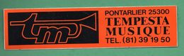 TEMPESTA MUSIQUE 25300 PONTARLIER  /  AUTOCOLLANT - Autocollants