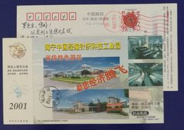 Felmale Worker Warp Knitting Machine,China 2001 Haining Warp Knitting Technology Industrial Park Pre-stamped Card - Textile
