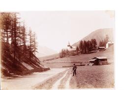 Photo Originale (Davos)  Frauenkirch Mit Landwasser - Luoghi