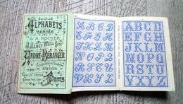 Album Ancien Dépliant  Alphabets Variés Pouyer N°41 Point De Croix Broderie Mode - Fashion