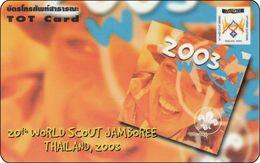 Thailand Phonecard TOT Nr. 360  20th World Scout Jamboree Pfadfinder RRR - Thaïlande