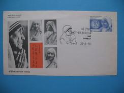 France Premier Jour  Mère Thèresa    FDC  Mother Teresa   27 - 8 - 1980 - 1980-1989