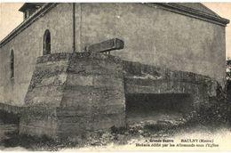 CPA N°7274 - GRANDE GUERRE - BAULNY - BLOCKAUS EDIFIE PAR LES ALLEMANDS SOUS L' EGLISE - MILITARIA 14-18 - Frankreich