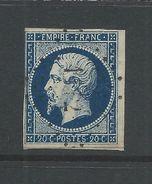 France 1853 Napoleon 20 Cent Blue Good Used On Paper - 1853-1860 Napoleon III