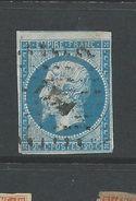 France 1853 Napoleon 20 Cent  Bright Blue   Good Used - 1853-1860 Napoleon III