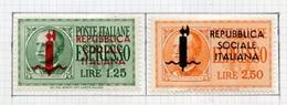 Italie République Sociale 1944 Y&T N°RSI LE3 à 4 - 4. 1944-45 Repubblica Sociale