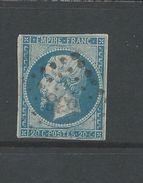 France 1853 Napoleon 20 Cent Blue Spacefiller - 1853-1860 Napoleon III