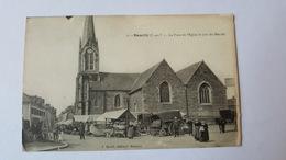 Romillé - La Place De L'Eglise Le Jour Du Marché - J. Sorel éditeur - France