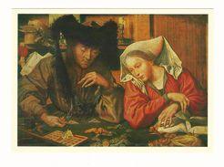 Money-changer And His Wife. Marinus Van Roemerswaele. Postcard 1981. Unused. - Peintures & Tableaux