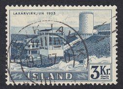 ISLAND Islanda Islande - 1956 -  Yvert 267 Obliterato; 3 Kr, Blu/grigio. - 1944-... Repubblica